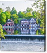 Boathouse Row - Framed In Spring Acrylic Print