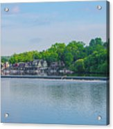 Boathouse Row From Mlk Drive - Philadelphia Acrylic Print
