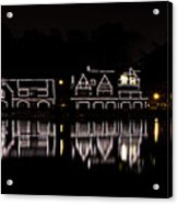 Boathouse Row Panorama - Philadelphia Acrylic Print by Brendan Reals