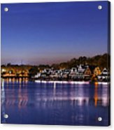 Boathouse Row Philly Acrylic Print
