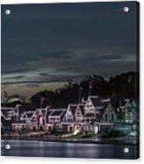 Boathouse Row Philly Pa Night Acrylic Print