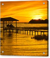 Boathouse Sunset Acrylic Print