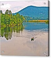 Boating On Connecticut River Between Vermont And New Hampshire Acrylic Print