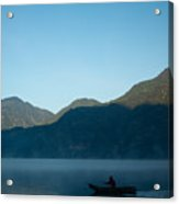 Boatman Lake Atitlan Guatemala Acrylic Print