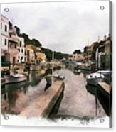 Boats Anchored Acrylic Print