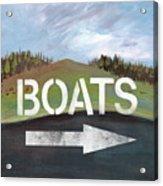 Boats- Art By Linda Woods Acrylic Print