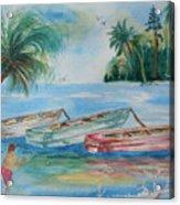 Boats At Casey Key Acrylic Print