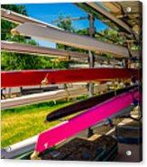 Boats At Dallas Rowing Club Acrylic Print