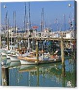 Boats At Fisherman Acrylic Print