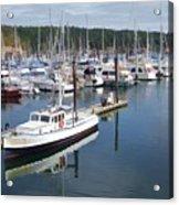 Boats At Friday Harbor Acrylic Print