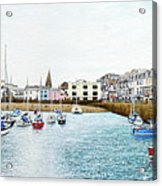 Boats At Ilfracombe Harbour Acrylic Print