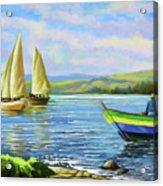 Boats At Lake Victoria Acrylic Print