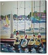 Boats At Marina Del Rey Acrylic Print