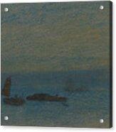 Boats At Night Acrylic Print