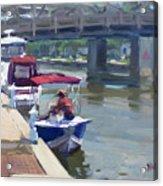 Boats At North Tonawanda Canal Acrylic Print