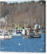 Boats At Rye  Harbor, Nh  Acrylic Print