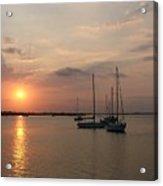 Boats At Sunrise Acrylic Print