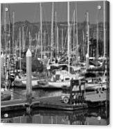 Boats At The Bay Acrylic Print