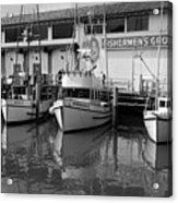 Boats At The Dock Acrylic Print