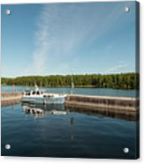 Boats At The Dock Acrylic Print