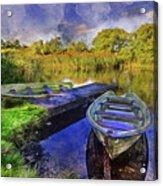 Boats At The Lake Acrylic Print