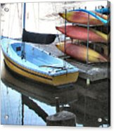 Boats For Rent Acrylic Print