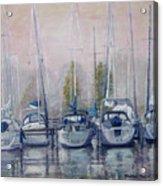 Boats In A Row Acrylic Print