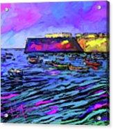 Boats In Cadiz, Spain Acrylic Print