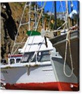 Boats In Drydock Acrylic Print