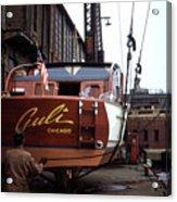 Boats In Harbor - 006 Acrylic Print