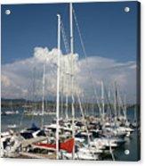 Boats In Port Tuscany Acrylic Print