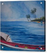 Boats In The Caribbean Acrylic Print