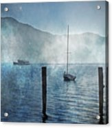 Boats In The Fog Acrylic Print by Joana Kruse