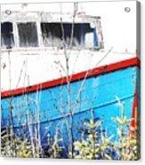 Boats In The Garden Acrylic Print