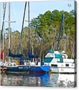 Boats In The Water Acrylic Print