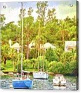 Boats In Waiting Acrylic Print