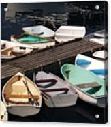 Boats In Waiting Acrylic Print