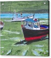 Boats Low Tide Emsworth Acrylic Print