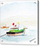 Boats Near Khashid Beach Acrylic Print