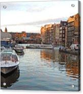 Boats Of Amsterdam Acrylic Print