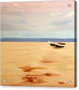 Boats On A Beach Acrylic Print