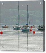 Boats On Carsington Water Acrylic Print