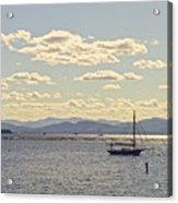 Boats On Lake Champlain Vermont Acrylic Print