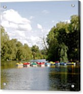 Boats On Markeaton Lake Acrylic Print