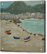 Boats On The Beach In Spain Acrylic Print