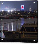 Boats On The Charles River Citgo Sign Boston Massachusetts Acrylic Print