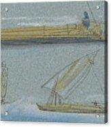 Boats On The Nile Acrylic Print