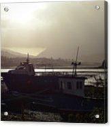 Boats, Portree, Isle Of Skye Acrylic Print