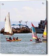 Boats Race Acrylic Print