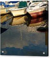 Boats Reflected Acrylic Print